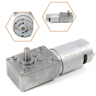510rpm Electric Gear Motor 0.12a High Torque Low Speed Worm Reversible For Bbq