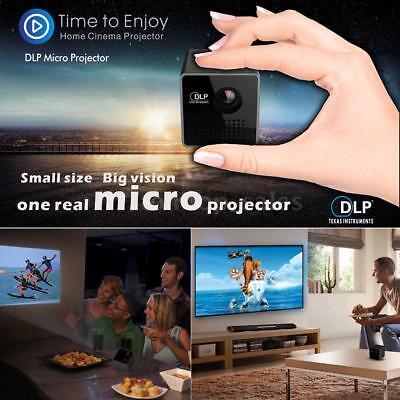 "1080P/ Full HD DLP Mini LED 70"" Projector Pocket Home Theater Multimedia USB TF"