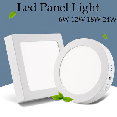 Surface Mounted LED Ceiling Downlight Panel Light 6W 12W 18W 24W 85V-265V - Surface Downlight