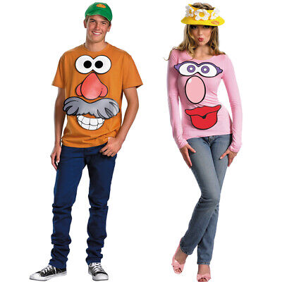 Toy Story Couple Costumes (Mr. and Mrs. Potato Head Couples Costume Kit Hats Potatohead Stickers Toy)