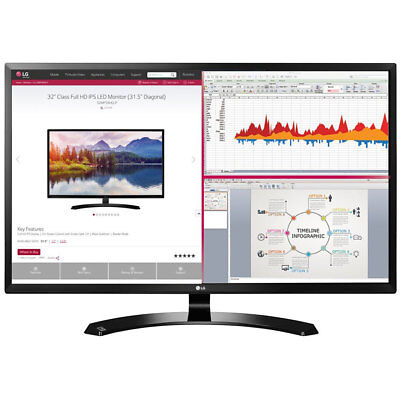 "LG 32"" Full HD IPS LED Monitor 1920 x 1080 16:9 32MA68HYP"