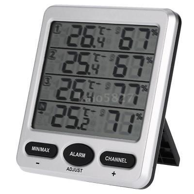 433MHz Wireless 8-CH Indoor/Outdoor Thermo-hygrometer w/Three Remote Sensor E5X1