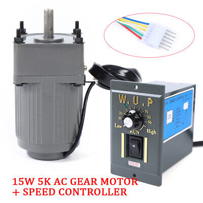 110v Ac Gear Single-phase Motor Electric Motor Variable Speed Controller 15w