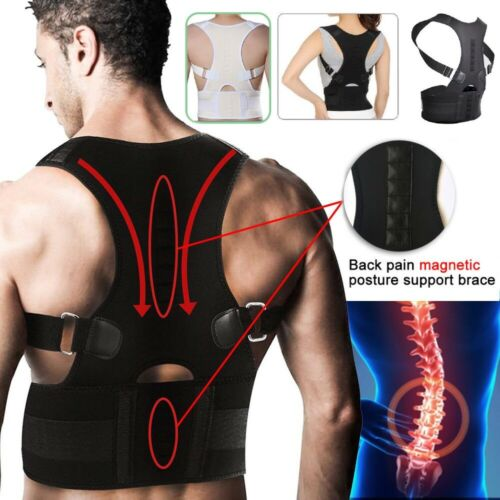 Adjustable Support Correction Back Lumbar Shoulder Brace Belt Posture Corrector Health & Beauty