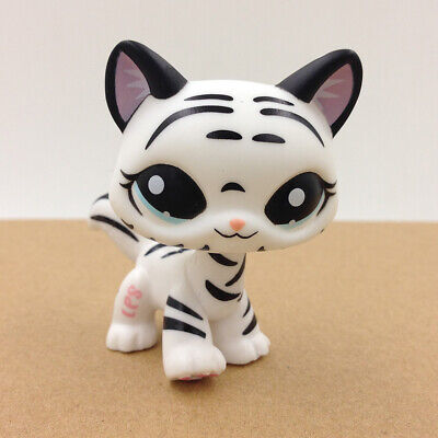 Shop For Kid (Littlest Pet Shop #1498 LPS Short Hair Cat White Tiger Kitty Gift For Kid)