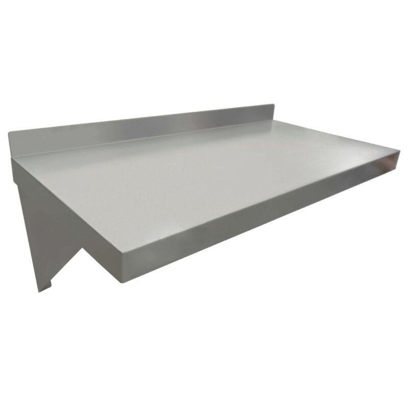 """HUBERT Wall Shelf 18 Gauge Stainless Steel - 24""""L x 12""""W"""