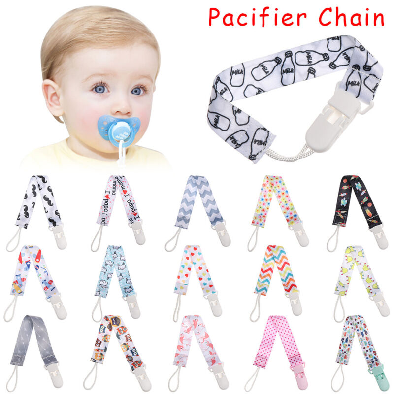Kids Baby Boy Girl Dummy Pacifier Soother Nipple Strap Chain Clip HolderI N7