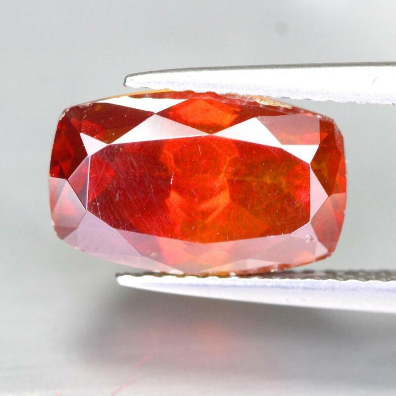 Certificate Include 5.20Cts Natural Red Sphalerite Cushion Untreated Gemstone