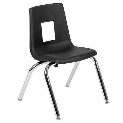 Black Student Stack School Chair - 14-inch