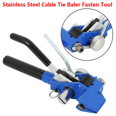 Stainless Steel 4.6-24mm Width 0.8mm Thickness Cable Tie Baler Fasten Tool