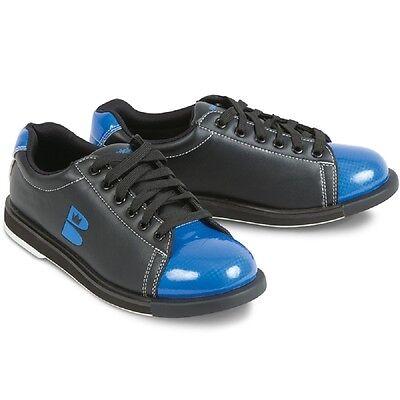 Mens Brunswick TZone Bowling Shoes Color Black & Blue Size 9