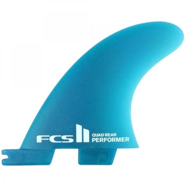 FCS II Performer Neo Glass Quad Rear Surfboard Fins - 2 Fin Set