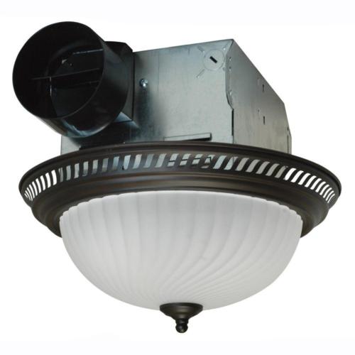 Bathroom Ceiling Ventilation Quiet Exhaust Fan Light Combo B