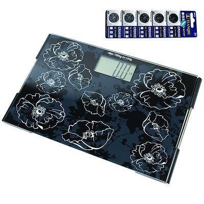 Glass Platform Slim Digital Bathroom Scale / Personal Scale - 330 LBS / 150KG
