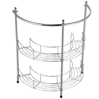 UNDER BASIN RACK 2 Tier Chrome Silver Sink Storage Bathroom Shelf Organiser