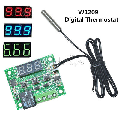 Dc12v Ntc10k 1 3950 Cable W1209 Digital Thermostat Temperature Controller