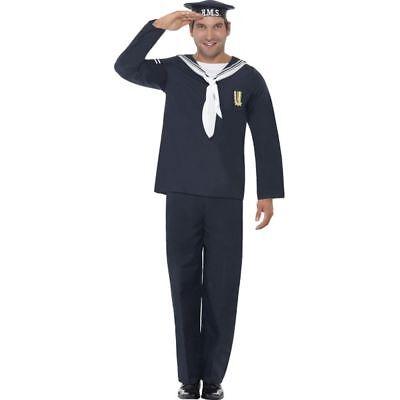 Smi - Herren Kostüm Marine Matrose Uniform Karneval Fasching (Matrosen Uniform Herren Kostüme)