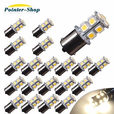 Led - 20x Warm White 1156 13-SMD RV Camper Trailer LED Interior Light Bulbs 1141 12V