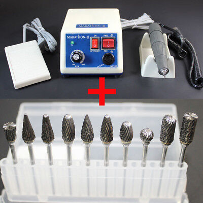 Dental Lab Marathon Micromotor Polishing Polisher Handpiece 35k Rpm 10 Drills