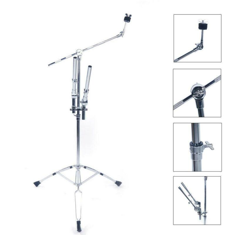 New Adjustable Double Tom Drum Stand Cymbal Boom Mount Arm for Drum Kit