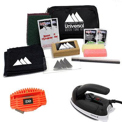 Ski & Snowboard Tuning Universal Quick Tune Travel Tuning Kit - Wax, Edge & Iron