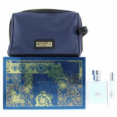 Versace Pour Homme Eau de Toilette 100ml, EDT 10ml & Blue Bag Gift Set For Him