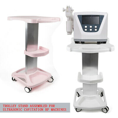 Wheel Trolley Stand Rolling Cart For Beauty Instrument Machine Pinkwhite