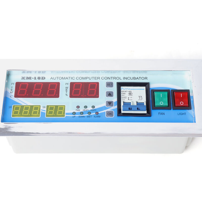 Egg Incubator Hatcher Digital Display Temperature Humidity Turning Frequency 110