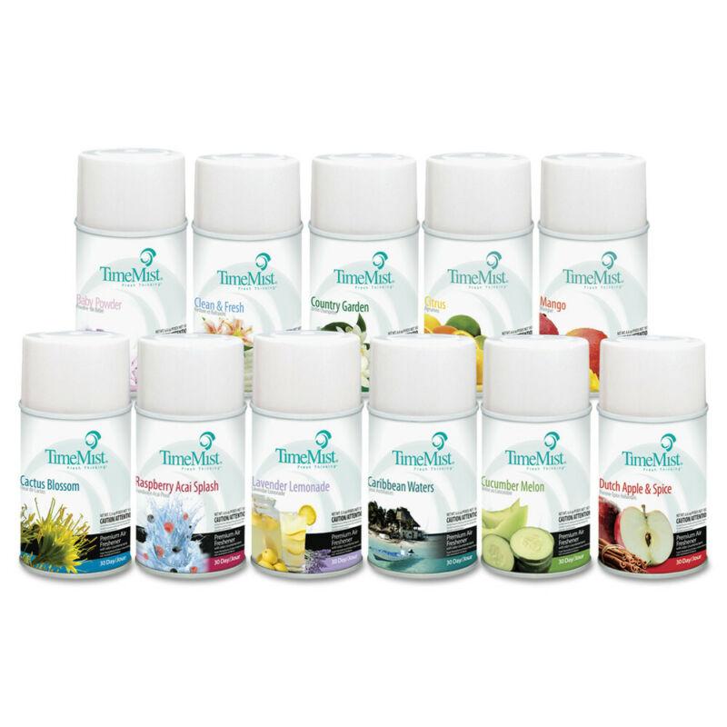 TimeMist Fragrance Dispenser Assorted Fragrances 6.6oz 12/ctn 1043978 NEW