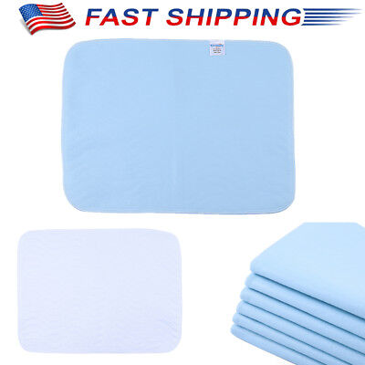 6PCS BED PAD REUSABLE UNDERPAD HOSPITAL GRADE INCONTINENCE WASHABLE 4 Layers -