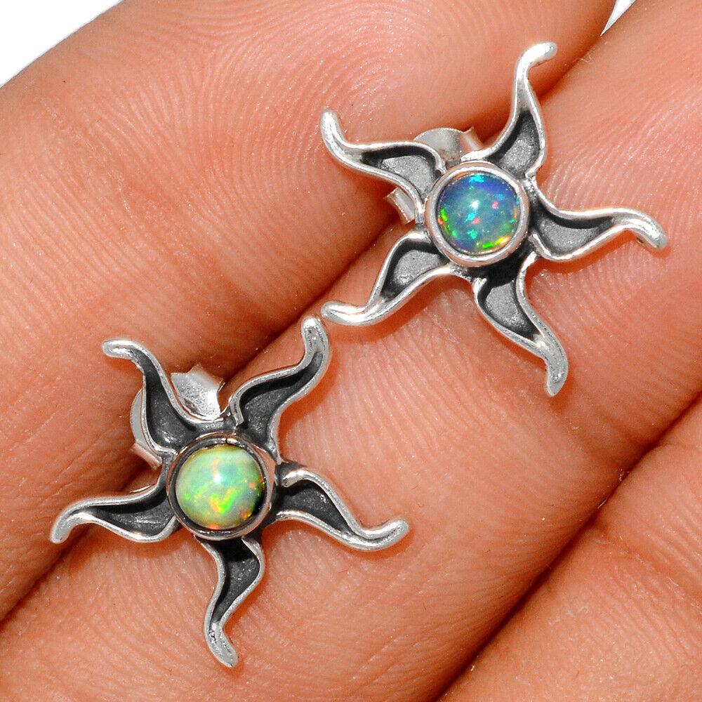 Sun - Ethiopian Opal 925 Sterling Silver Earring - Stud Jewelry BE28285 - $11.99