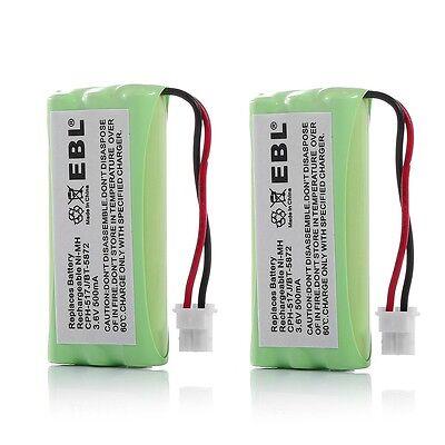 2 Cordless Phone Battery For VTech BT-5632 BT-5872 89-1333-01-00 CPH-517J -