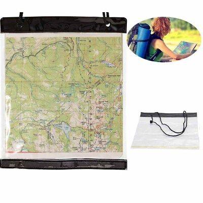 1PC White Waterproof PVC Transparent Map Case Camping Hiking Case Holder -