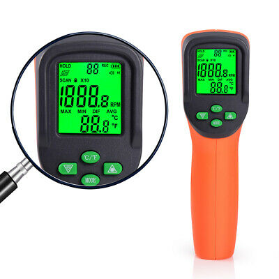Digital Lcd Photolaser Tachometer Non-contact Gun Rpm Meter Handheld Tester Usa