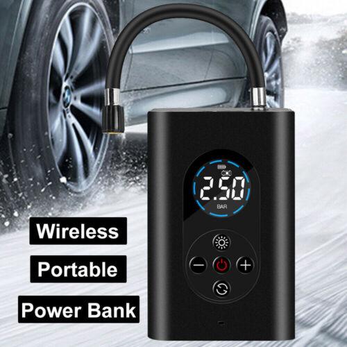 LCD Akku Elektrische Luftpumpe Auto Reifen Druckluft Fahrrad Kompressor 150PSI
