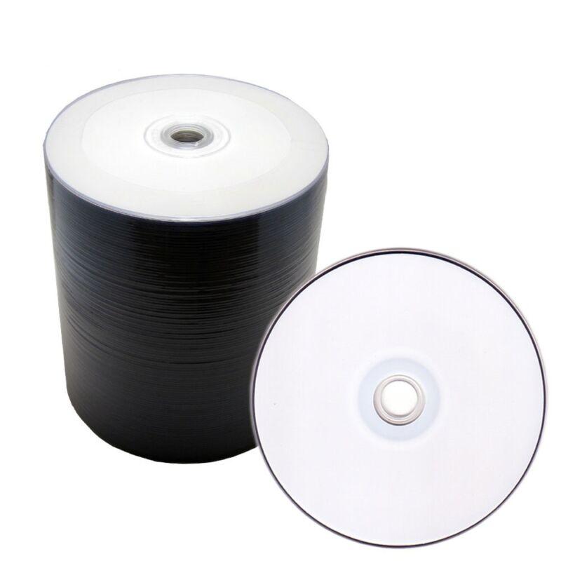 100 White Inkjet Printable Blank DVD-R DVDR 16X Disc