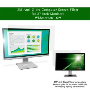 NEW 3M Anti-Glare Computer Screen Filter for 27 inch Monitors - Widescreen 16:9 - AG270W9B Condtion: New, Anti-Glare,...
