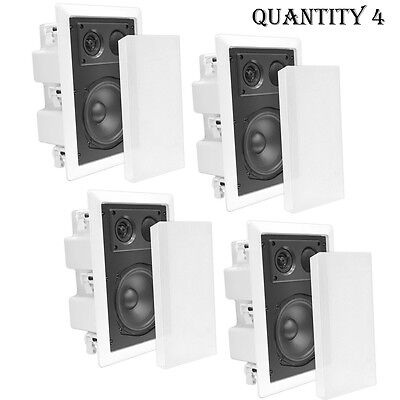 """QTY (4) NEW Pyle 6.5"""" In-Ceiling Enclosed Speakers 2-Way w/ Directional Tweeter"""