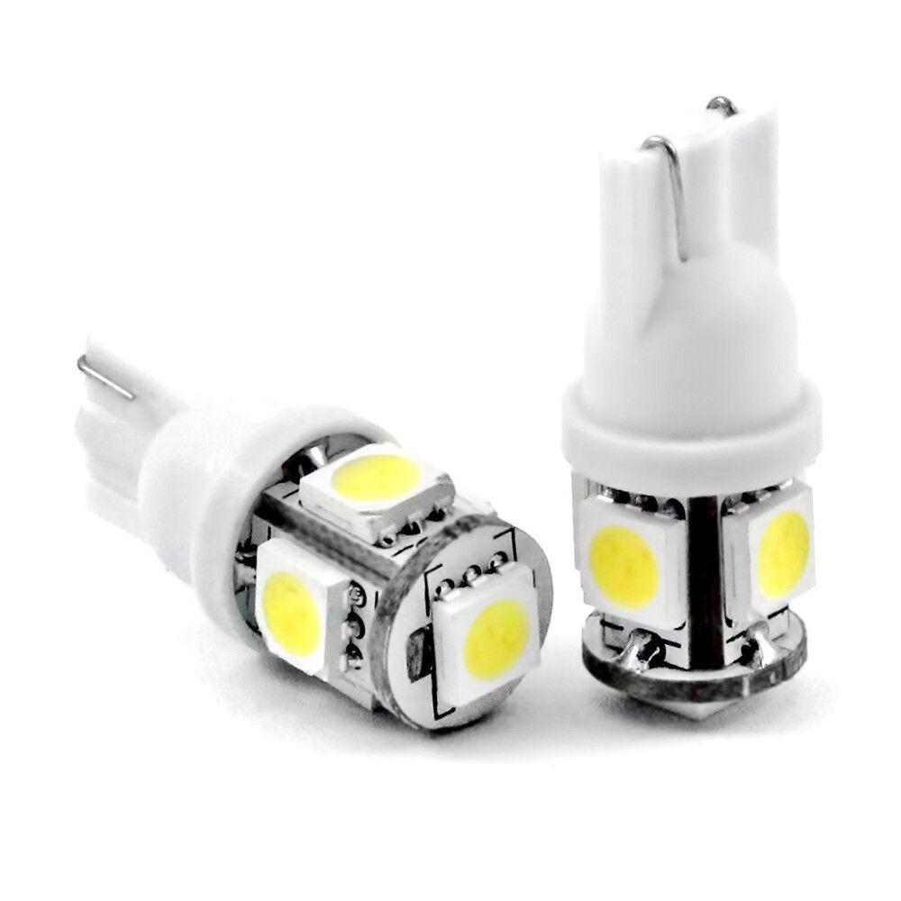 ::2pcs T10 5-SMD 5050 Super White LED Light Bulbs 192 168 194 W5W 2825 158 12V USA