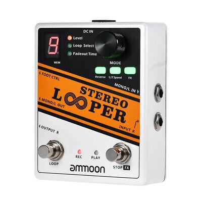 ammoon LOOPER Loop Record Guitar Effect Pedal 10 Loops 10min Recording H5K2