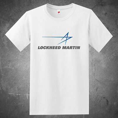 Lockheed Martin Military Aircraft Company Logo Mens White T Shirt Size S To 3Xl