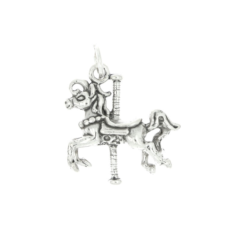 STERLING SILVER MARY GO ROUND HORSE CHARM OR PENDANT