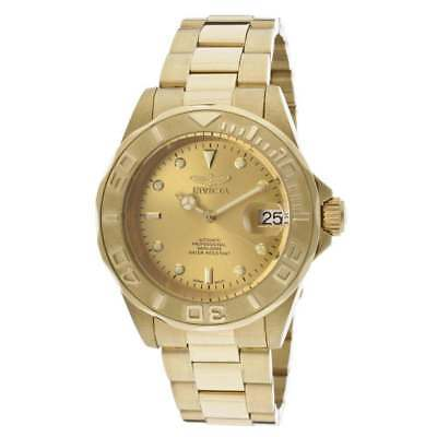 Invicta 13929 Men's Pro Diver Automatic Gold Tone Dial Gold Plated Steel Watch