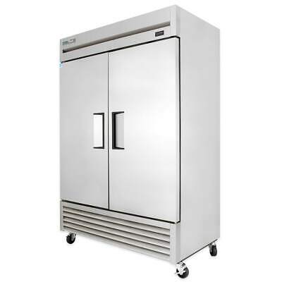 True Ts-49f-hc 54 Two Section Reach-in Freezer 2 Solid Doors 115v