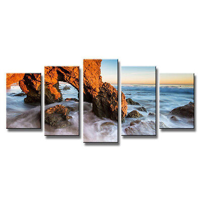 Canvas Print Painting Picture Home Decor Wall Art Seascape Sea Rock Framed