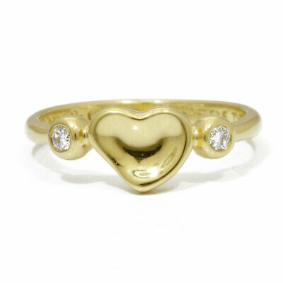 TIFFANY&Co. Pinky ring gold K18 Gold Diamond: 2 stones Closed heart from japan