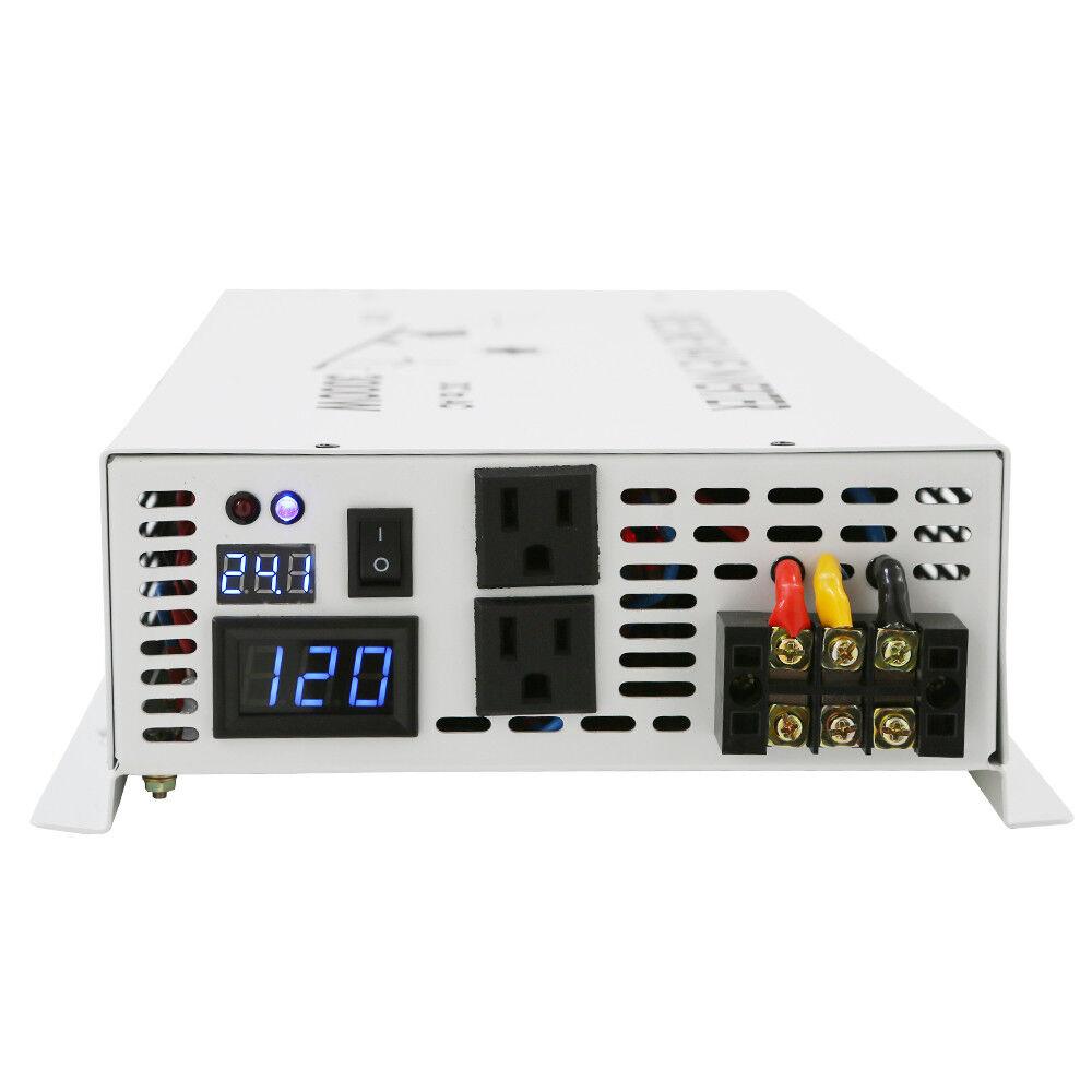 60v To 120v Car Power Inverter 3000w Pure Sine Wave Dc Low Negative Supply Ac Converter