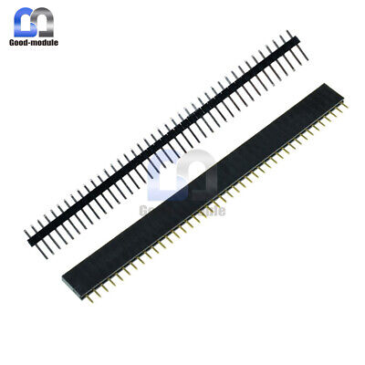 10pcs Male Female 40pin Header Socket Row Strip Pcb Connector Cool 2.54mm