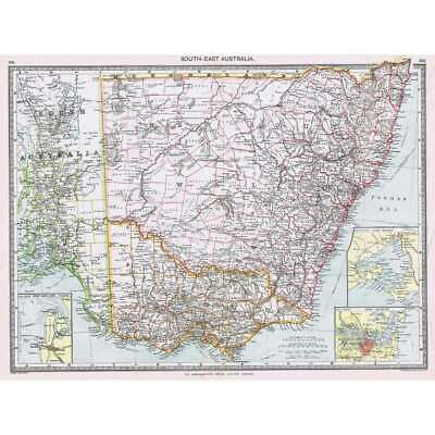 South Africa Industrial and Communication Antique Map 1906 Harmsworth Atlas