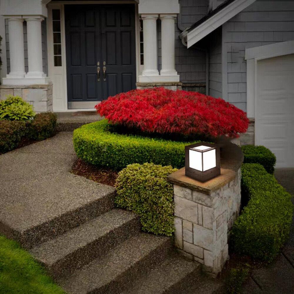 E27 Square Post Light Fence Pillar Lamp Outdoor Garden Landscape Lamp Waterproof - $29.00